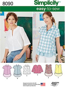 simplicity women s easy to sew knit top sewing pattern 8089 - Shop