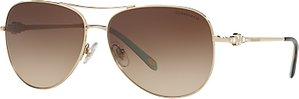 Read more about Tiffany co tf3052b aviator sunglasses gold brown