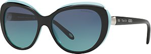 Read more about Tiffany co tf4122 cat s eye sunglasses black turquoise