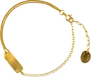Read more about Alex monroe 22ct gold plated sterling silver time flies tag bracelet gold