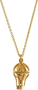 Read more about Alex monroe 22ct gold plated sterling silver small hot air balloon pendant necklace gold
