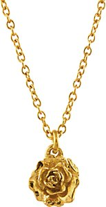 Read more about Alex monroe 22ct gold plated sterling silver rosa damascena pendant necklace gold