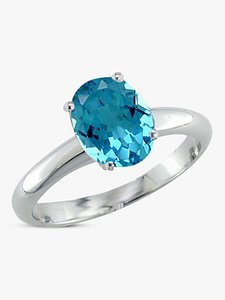 Read more about Ewa 9ct gold oval ring blue topaz