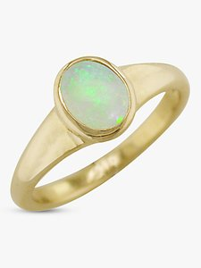 Read more about Ewa 9ct yellow gold oval ring opal