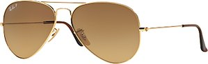 Read more about Ray-ban rb3025 polarised aviator sunglasses shiny gold brown gradient