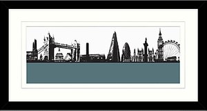 c11ac5a6502 Read more about Jacky al-samarraie london skyline framed print 64 x 34cm