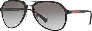 Read more about Prada linea rossa ps 05rs aviator sunglasses black grey gradient