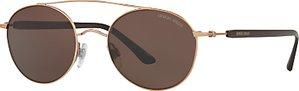 Read more about Giorgio armani ar6038 round sunglasses rose gold brown