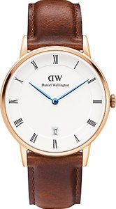 Read more about Daniel wellington dw00100091 women s dapper st mawes leather strap watch brown white