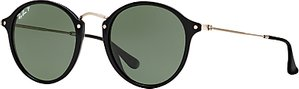 Read more about Ray-ban rb2447 polarised round fleck sunglasses black dark green