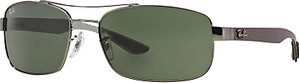 Read more about Ray-ban rb8316 tech carbon fibre rectangular sunglasses black dark green