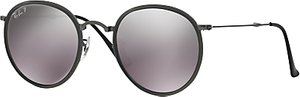 Read more about Ray-ban rb3517 polarised round folding sunglasses gunmetal silver gradient