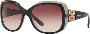 Read more about Bvlgari bv8172b embellished square gradient sunglasses black red gradient