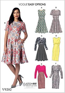 vogue very easy custom fit dress sewing pattern 9017 - Shop
