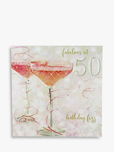 Read more about Woodmansterne champagne 50th birthday card