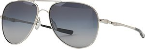 Read more about Oakley oo4119 elmont medium polarised aviator sunglasses silver grey gradient