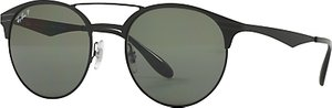 Read more about Ray-ban rb3545 polarised oval sunglasses black dark green