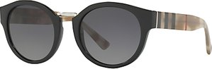 Read more about Burberry be4227 polarised oval sunglasses black grey gradient