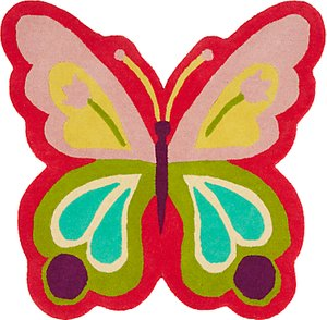 Read more about Little home at john lewis butterfly shape children s rug