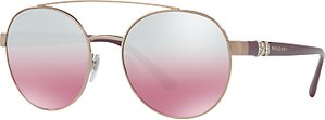Read more about Bvlgari bv6085b embellished round sunglasses plum pink gradient