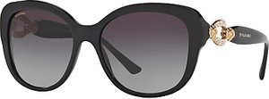 Read more about Bvlgari bv8180b embellished square sunglasses black grey gradient