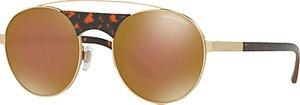 Read more about Giorgio armani ar6047 round sunglasses gold mirror brown