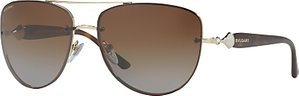 Read more about Bvlgari bv6086b aviator sunglasses tortoise brown gradient
