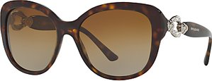 Read more about Bvlgari bv8180b embellished polarised square sunglasses tortoise brown gradient