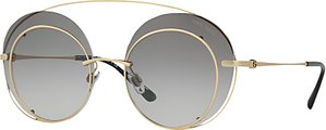 Read more about Giorgio armani ar6043 round sunglasses gold grey gradient