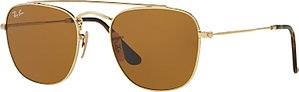 Read more about Ray-ban rb3557 square sunglasses gold brown