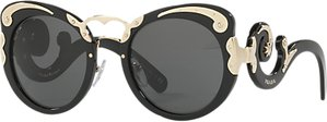 Read more about Prada pr 07ts structured round sunglasses black