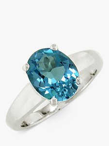 Read more about Ewa 9ct white gold topaz ring blue