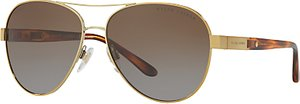 Read more about Ralph lauren rl7054q polarised aviator sunglasses gold brown gradient