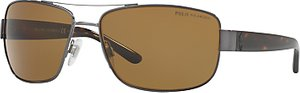 Read more about Polo ralph lauren ph3087 polarised rectangular sunglasses tortoise brown