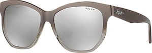Read more about Ralph ra5219 oval sunglasses taupe mirror silver
