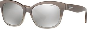 Read more about Ralph ra5218 cat s eye sunglasses beige ombre mirror silver