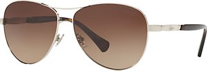 Read more about Ralph ra4117 aviator sunglasses silver brown gradient