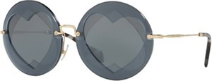 Read more about Miu miu mu 01ss round sunglasses gold dark grey