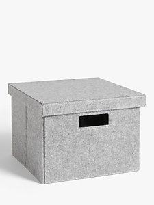 Read more about House by john lewis grey felt storage box medium