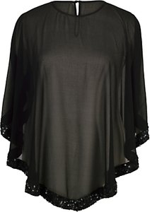 Read more about Chesca ring sequin trim top black