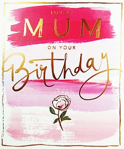 Read more about Cardmix watercolour flowers mum greeting card