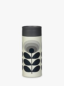 Read more about Orla kiely 70s oval flower travel mug grey multi 350ml