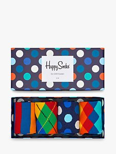 Read more about Happy socks bright pattern socks one size pack of 4 multi