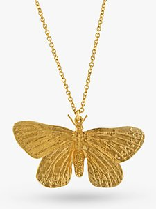 Read more about Alex monroe butterfly pendant necklace gold