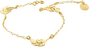 Read more about Alex monroe feather chain bracelet gold