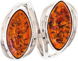Read more about Be-jewelled double navette amber ring cognac