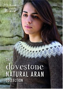 Read more about Baa ram ewe dovestone aran collection jumper and accessories knitting patterns