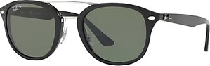Read more about Ray-ban rb2183 polarised square sunglasses black dark green