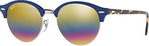 Read more about Ray-ban rb4246 clubround round sunglasses navy tortoise multi