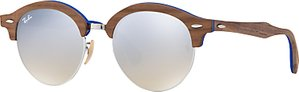 Read more about Ray-ban rb4246m clubround wood round sunglasses brown silver gradient flash